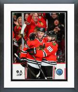 Chicago Blackhawks Jonathan Toews & Patrick Kane 2014-15 Action Framed Photo