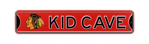 Chicago Blackhawks Kid Cave Street Sign