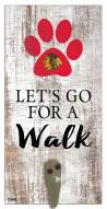 Chicago Blackhawks Leash Holder Sign