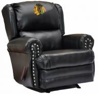 Chicago Blackhawks Leather Coach Recliner
