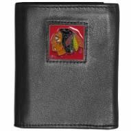 Chicago Blackhawks Leather Tri-fold Wallet