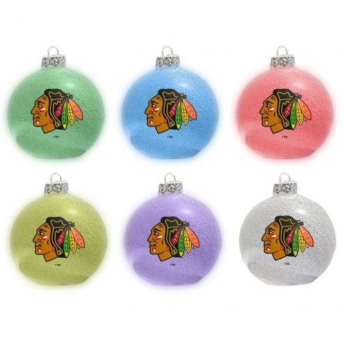 Chicago Blackhawks LED Color Changing Ball Ornament