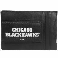 Chicago Blackhawks Logo Leather Cash and Cardholder