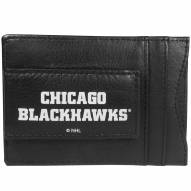Chicago Blackhawks Logo Leather Cash and Cardholder