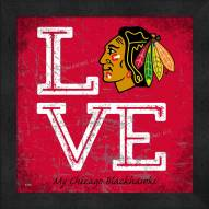 Chicago Blackhawks Love My Team Color Wall Decor