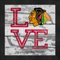 Chicago Blackhawks Love My Team Square Wall Decor