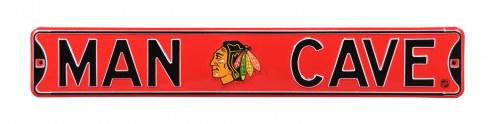 Chicago Blackhawks Man Cave Street Sign