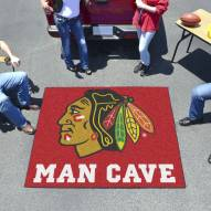 Chicago Blackhawks Man Cave Tailgate Mat