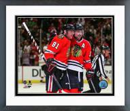 Chicago Blackhawks Marian Hossa & Patrick Sharp 2014 Action Framed Photo