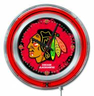 Chicago Blackhawks Neon Clock