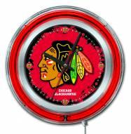 Chicago Blackhawks Neon Clock