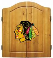 Chicago Blackhawks NHL Complete Dart Board Cabinet Set