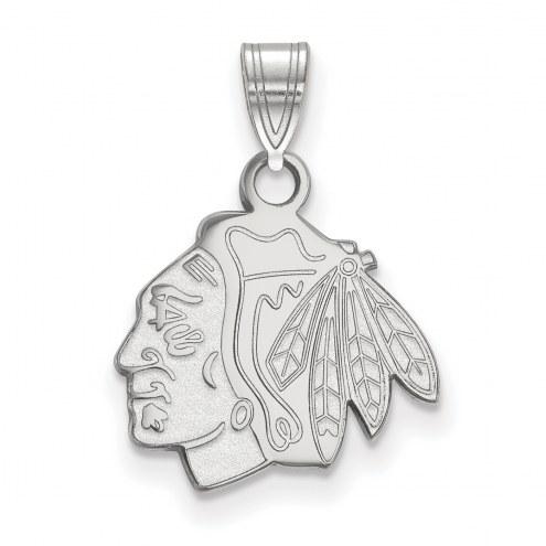 Chicago Blackhawks Sterling Silver Small Pendant