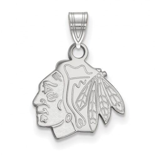 Chicago Blackhawks Sterling Silver Small Pendant