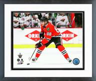 Chicago Blackhawks Patrick Kane Playoff Action Framed Photo