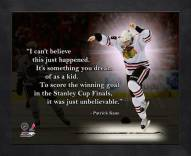 Chicago Blackhawks Patrick Kane NHL Framed Pro Quote