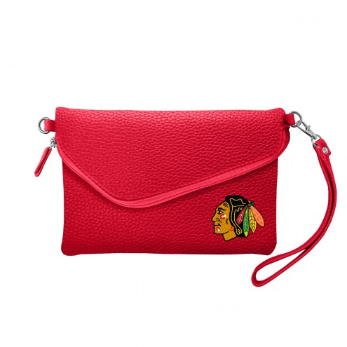 Chicago Blackhawks Pebble Fold Over Purse