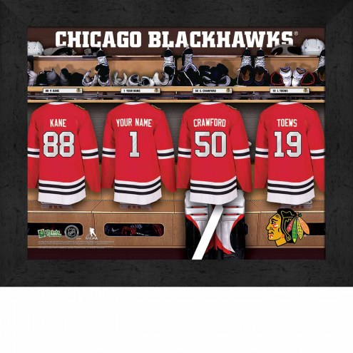 Chicago Blackhawks Personalized 11 x 14 Framed Photograph