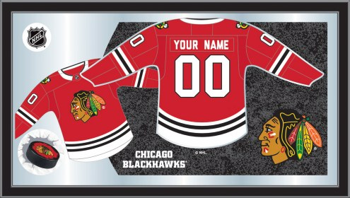 Chicago Blackhawks Personalized Jersey Mirror