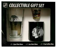 Chicago Blackhawks Pint, Shot, Coffee Mug Set