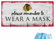 Chicago Blackhawks Please Wear Your Mask Sign