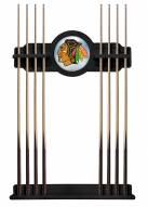 Chicago Blackhawks Pool Cue Rack