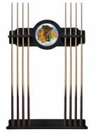 Chicago Blackhawks Pool Cue Rack