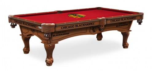 Chicago Blackhawks Pool Table