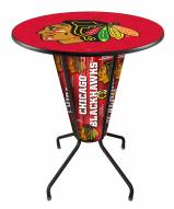 Chicago Blackhawks Indoor Lighted Pub Table