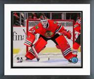 Chicago Blackhawks Scott Darling Action Framed Photo