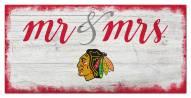 Chicago Blackhawks Script Mr. & Mrs. Sign