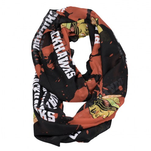 Chicago Blackhawks Silky Infinity Scarf
