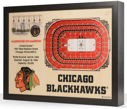 Chicago Blackhawks 25-Layer StadiumViews 3D Wall Art