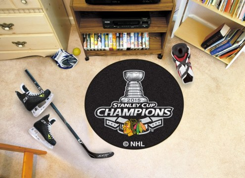 Chicago Blackhawks Stanley Cup Hockey Puck Mat