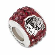 Chicago Blackhawks Sterling Silver Charm Bead