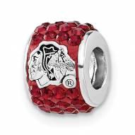 Chicago Blackhawks Sterling Silver Charm Bead