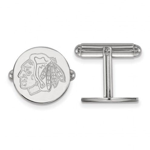 Chicago Blackhawks Sterling Silver Cuff Links