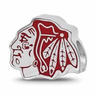 Chicago Blackhawks Sterling Silver Enameled Bead