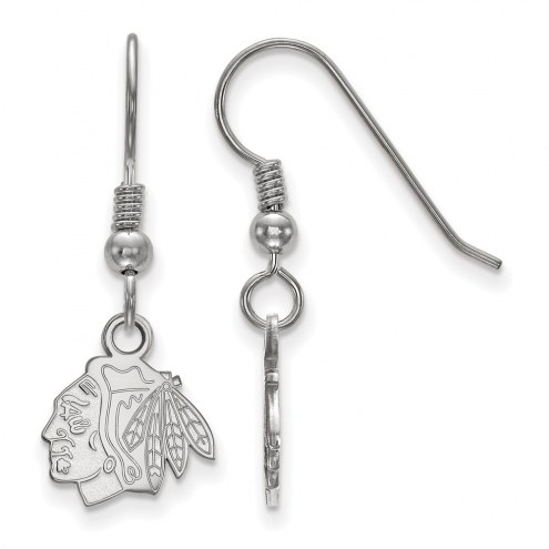 Chicago Blackhawks Sterling Silver Extra Small Dangle Earrings