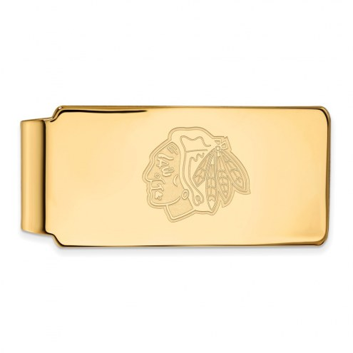 Chicago Blackhawks Sterling Silver Gold Plated Money Clip