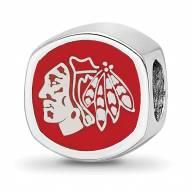 Chicago Blackhawks Sterling Silver Logo Bead