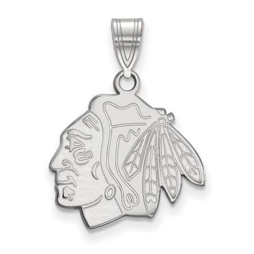 Chicago Blackhawks Sterling Silver Medium Pendant