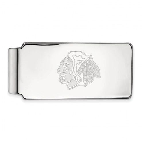 Chicago Blackhawks Sterling Silver Money Clip