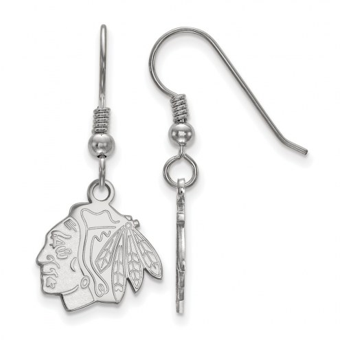 Chicago Blackhawks Sterling Silver Small Dangle Earrings