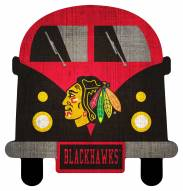 Chicago Blackhawks Team Bus Sign