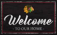 Chicago Blackhawks Team Color Welcome Sign