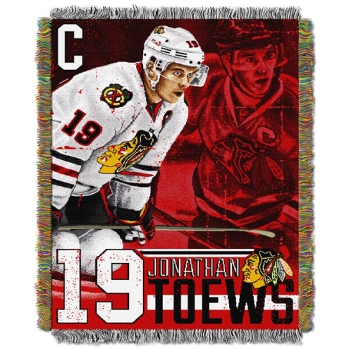 Chicago Blackhawks Toews Throw Blanket