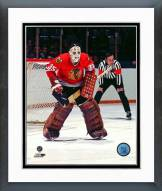 Chicago Blackhawks Tony Esposito 1977 Action Framed Photo