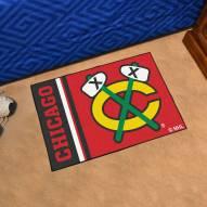 Chicago Blackhawks Uniform Inspired Starter Rug