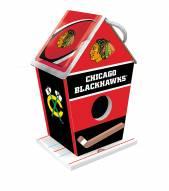 Chicago Blackhawks Wood Birdhouse